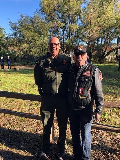 Sheriff Rob Giordano and American Legion Rider Chaplain Chapter 111 Jerry Jaramillo